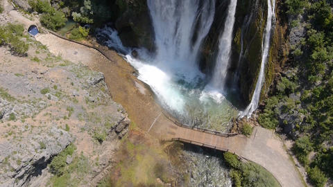 AERIAL: Waterfall Footage