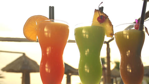 Juicy Cocktails stock footage