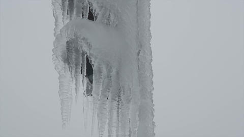 Land covered in icicles Footage