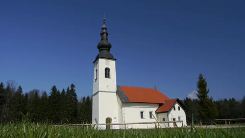Church At The Countryside stock footage