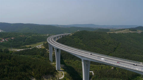 AERIAL: Viaduct Footage