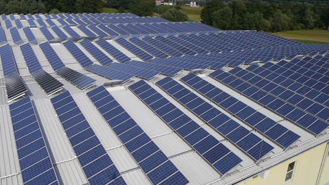 AERIAL: Solar panels Footage