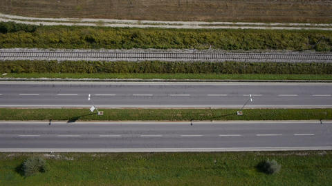 AERIAL: Empty highway Footage