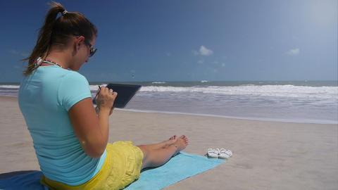 Using digitized pen on digital tablet Live Action