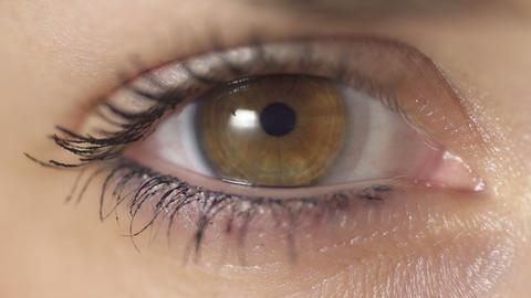 SLOW MOTION: blinking eye Footage