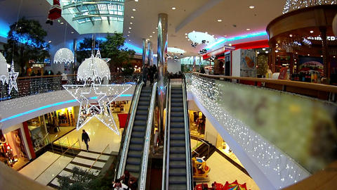 TIME-LAPSE: Christmas Shopping stock footage