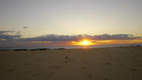 AERIAL: Beach at sunrise Footage