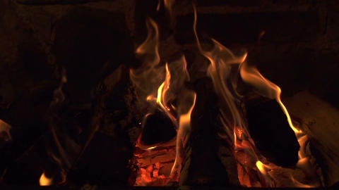 SLOW MOTION: Fireplace Footage