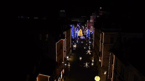 AERIAL: Christmas Lights Footage