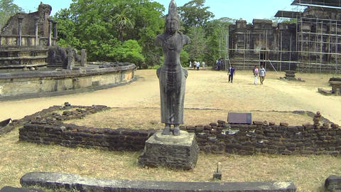 AERIAL: Ancient Temples In Sri Lanka stock footage