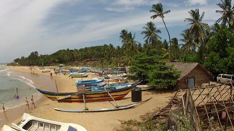 AERIAL: Coast in Sri Lanka Footage