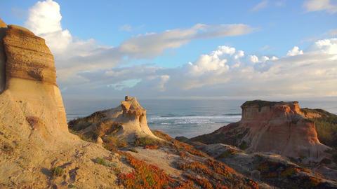 AERIAL: Beautiful Portugal beach at sunrise Footage