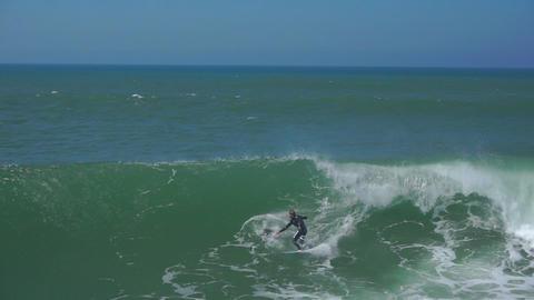 AERIAL: Surfing huge waves Footage