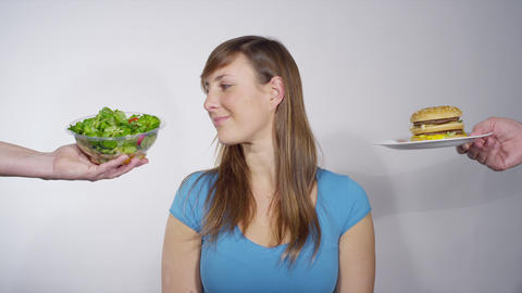 Picking between junk and healthy food Live Action