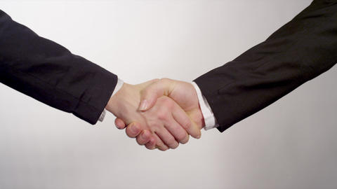 Business partners shake hands Footage