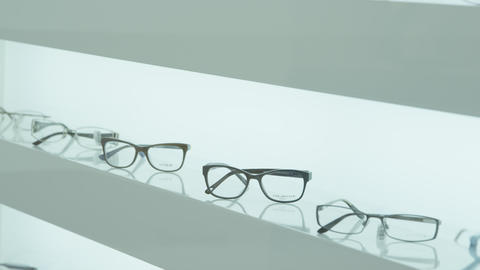 Eyeglasses on display Footage