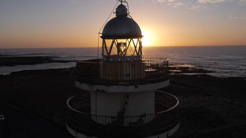 AERIAL: Flying Around The Lighthouse stock footage