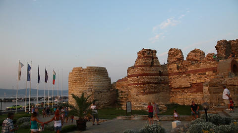 Walls in the City of Nessebar, Bulgaria Footage