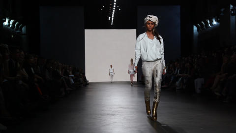 Catwalk model fashion week couture Footage