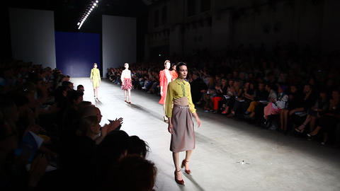 Catwalk model high fashion week show couture Footage