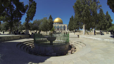 Dome Of The Rock stock footage