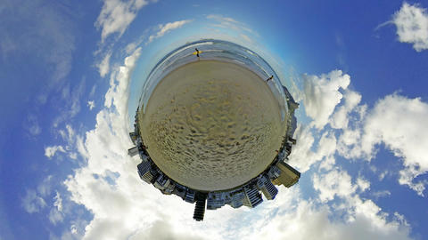 Planet Ipanema Beach Rio de Janeiro Brazil Footage