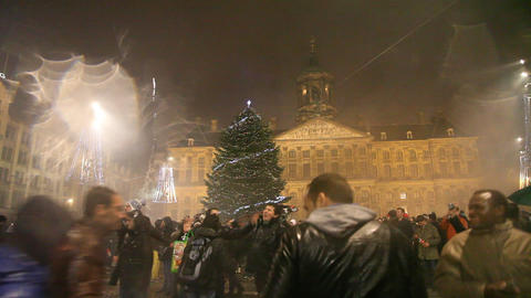New year celebration, fireworks, firecrackers, cha Footage