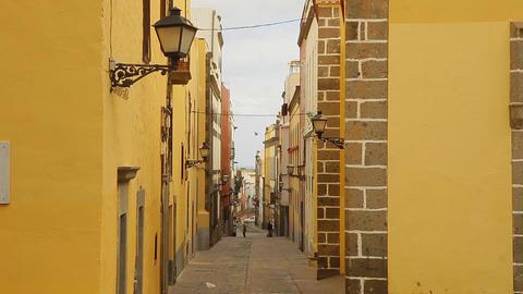 Old narrow street in Las Palmas Live Action