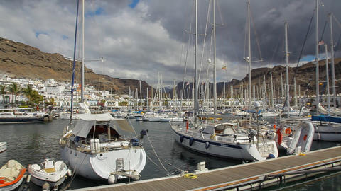 Port Of Mogan, Gran Canaria Spain stock footage