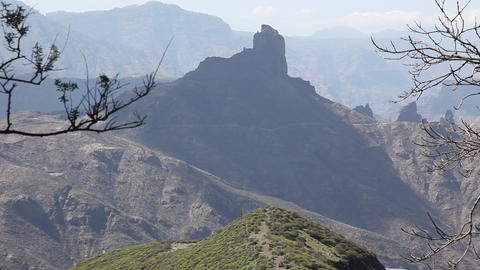 Roque Nublo, Landscapes in the southern part of Ca Footage