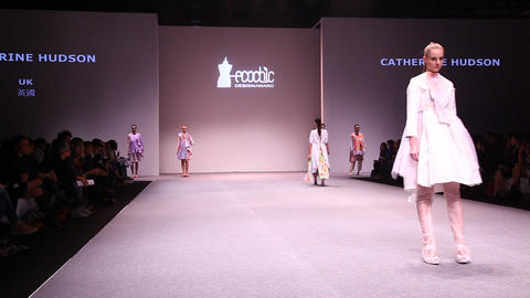 Catwalk at EcoChic Design Award sustainable fashio Footage