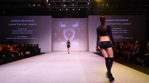 Intimate Fashion Catwalk Haute Couture top models Footage