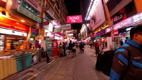 4K UHD Mong Kok Hong Kong night time lapse Footage