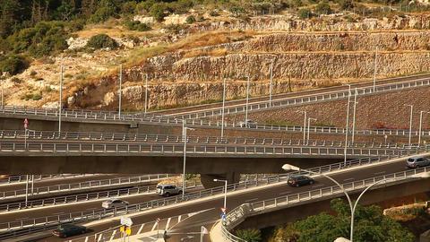 Neve Shaanan intersection Haifa Israel Footage