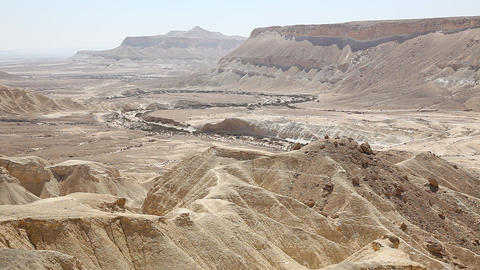 The Wilderness Of Zin Desert In The Negev District stock footage