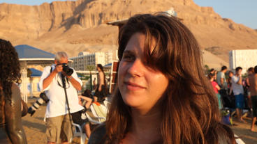 Daphne Leef Interview At The 'Save The Dead Sea' F stock footage