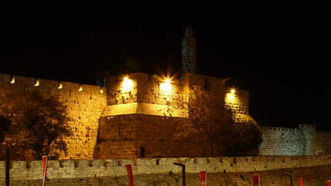 Walls of Jerusalem and Tower of David HD Footage
