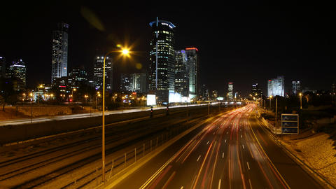 4K UHD Diamond Exchange Zone and Ayalon highway Ra Footage