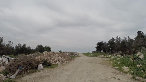 Road side construction waste Footage