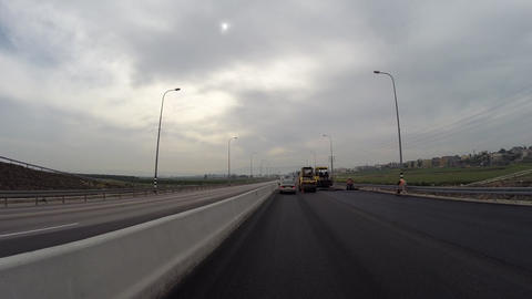 Road construction Footage