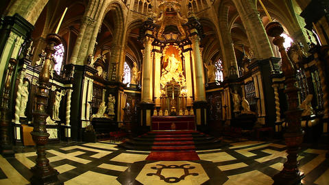 St. Bavo's Cathedral in Gent Belgium (Ghent) Footage