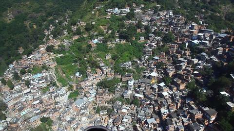 Favela aerial Rio de Janeiro Brazil flight FULL HD Footage