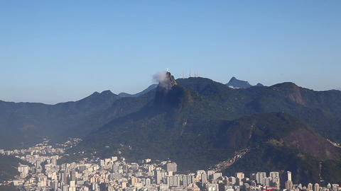 Aerial view of Rio de Janeiro Brazil zoom out Full Footage