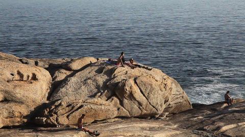 The rock of Copacabana Beach Rio de Janeiro, Brazi Footage