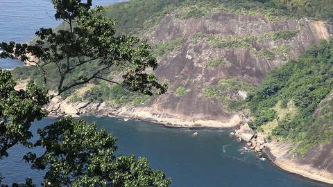 Tropical rocks fall into the sea Footage