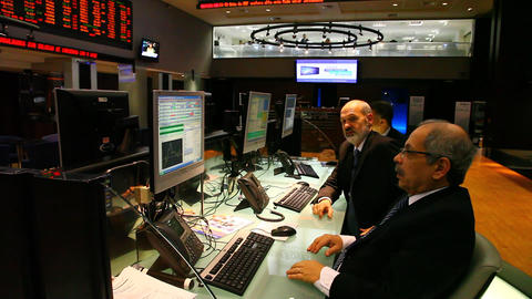 Trading panel at Bovespa Brazilian Stock Exchange Footage