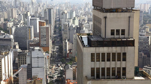Sao Paulo Brazil skyline - traffic FULL HD Footage