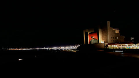 4K UHD Auditorium Alfredo Kraus in Las Palmas de G Footage