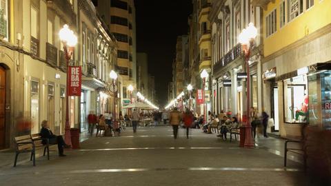 4K UHD Las Palmas de Gran Canaria, Calle Mayor de  Footage