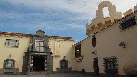 The Nestor Museum (Museo Nestor) in Las Palmas de Stock Video Footage
